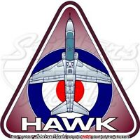 HAWK RAF Hawker Siddeley-BAe Systems, British Royal AirForce Vinyl Sticker Decal