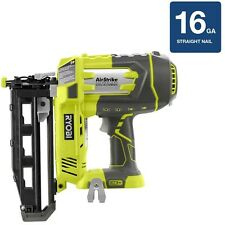 Straight Finish Cordless Nailer Air Nail Gun 18-Volt 16-Gauge Trim (Tool-Only)