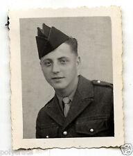 Portrait identité photomaton jeune homme militaire - photo ancienne an. 1950