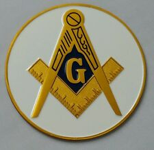 Freemason Masonic car emblem with white background