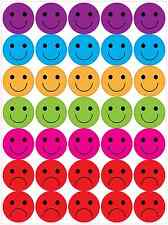 Happy and Sad face stickers reward kids teachers A4 sheet