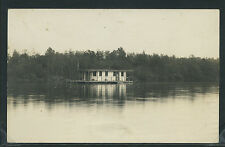 WI West Bend RPPC 1913 HOUSE BOAT Milwaukee River One of a Kind