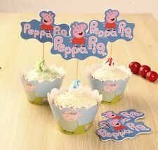 Cupcake Cup Cake Decorating,Toppers Wrappers PARTY DECORATION, Peppa Pig