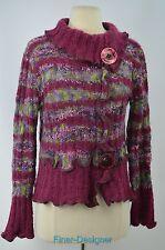 MIRASATI paris romantic sweater bouncle cowl mock wrap Womens pullover top S M
