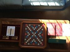 Franklin Mint Collector's Edition Wooden Scrabble Game w/ 24K Gold Plated Tiles