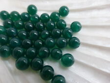1 Par X 6 mm de la mitad perforados Verde Onyx Cuentas Redondas (2 Granos) halfdrilled Piedras Preciosas