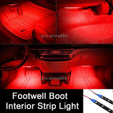"12"" Red 12SMD LED Interior Exterior Strip Footwell Dash Ambient Light Fit Dodge"