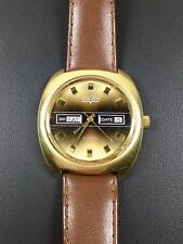 VINTAGE Vulcain Day Date Watch MOV. by Paul PEUGEOT Orologio da polso SWISS MADE 70's