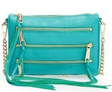 Rebecca Minkoff Peacock Mini 5 Five Zip Leather Crossbody Bag New