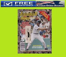 WADE BOGGS 1984 BASEBALL DIGEST MAGAZINE BOSTON REDSOX BASEBALL