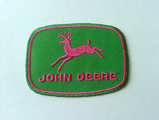 MOTORSPORTS MOTOR RACING CAR SEW / IRON ON PATCH:- JOHN DEERE (a) PINK DEER