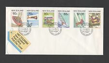 New Zealand 1987 FDC Tourism stamp issue set stamps