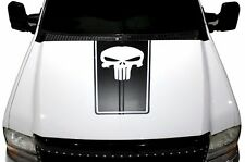 Vinyl Decal Punisher Hood Stripe Wrap Kit for Ford F-250/F-350 99-06 Matte Black