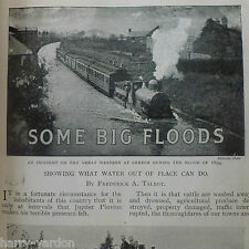 Old 1901 Floods Weather Creech Southsea Conway St Ives Kendal St Erth Marazion