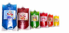 Delicious 6 pack of 330ml of Slush Syrup Pouches for snow cones slushie drinks