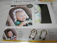 2 pcs Eddie Bauer Baby 2-in-1 Reversible Head Support ~ Chocolate Blue lime Grey