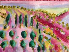 "SCARLETT Hills Of Santa Fe AN ORIGINAL ART, ACRYLIC PAINTING 9""x12"""