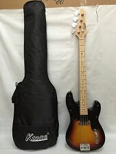 4 String Bass Guitar, Electric Bass, With Gig Bag Brand New