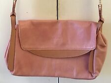 Claudia Firenze Beautiful Genuine Leather Pink Med Size Purse Handbag Italy
