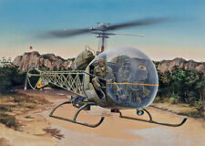 857 ITALERI BELL OH-13S SIOUX 1/48 HELICOPTER PLASTIC MODEL KIT SCALE 1/48