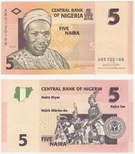 Nigeria 5 Naira 2006 P-32a UNC Uncirculated banknote-Tribal músicos
