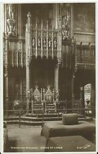 Sepia Postcard of Throne and Woolsack, House of Lords, London