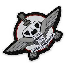 3D PVC 3D Rubber Dogs of War Morale Patch White Velcro Backed Edge of Tomorrow