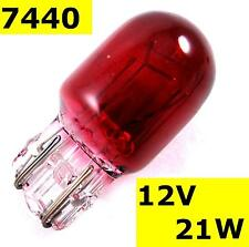 Bulb RED T20 21W FOG or BRAKE 7440 wedge 12v coloured car auto lamp light