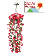Solar Powered Hanging Flower Lights