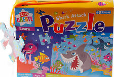 Childs 48 Piece Cartoon Shark Jigsaw Puzzle Toy