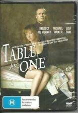 TABLE FOR ONE - REBECCA DE MORNAY MICHAEL ROOKER THRILLER NEW DVD MOVIE SEALED