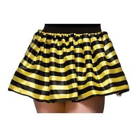 Adult Ladies Bumble Bee Black And Yellow Fancy Dress Tutu Costume Skirt TS7159