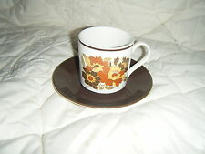 C4 Pottery Johnson Bros 1B3 Floral Cup & Saucer 15x9cm 3C5B