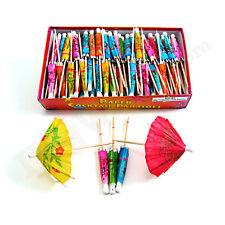 Cocktail Parasol Drink Umbrellas- Box of 144- Bar Beach Tiki Daiquiri Bulk Picks