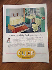1949 Eljer Styled Bathrooms Ad   Creates Lasting Beauty for Bathrooms