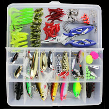 101Pcs Fishing Lure Hard Soft Bait Minnow Hard Soft Fishing Baits Lures Tackle A