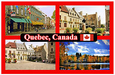 QUEBEC, CANADA - SOUVENIR NOVELTY FRIDGE MAGNET - FLAGS / SIGHTS - NEW - GIFT