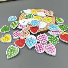 20PCS  DIY Leaves 2 holes Wooden Buttons Sewing Scrapbooking embellishment 23mm