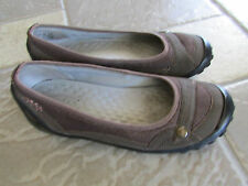 CLARKS PRIVO BROWN SLIP ON LOAFERS SHOES WOMENS 8.5 FREE SHIP