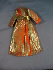 Vintage Original Mod Barbie #1494 Goldswinger Orange Gold Metallic Coat Jacket
