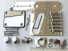 Telecaster guitar TL body chrome hardware parts jack neck plate screws knobs new