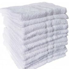 6 NEW WHITE 100% COTTON HOTEL HAND TOWELS 16X27 ROYAL REGAL  BRAND