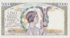 France 5000 Francs 10.4.1941 P 97c Series Y. 497 Circulated Banknote