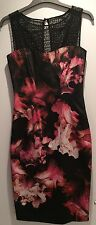 Black Floral Print Karen Millen Dress BNWT 10