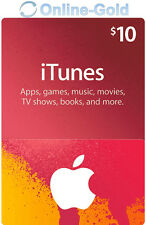 iTunes $10 Dollar Gift Card - 10 USD US Apple App Store Code iPhone iPad Mac Key