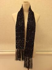 $900 BRAND NEW DRIES VAN NOTEN SEQUIN EMBELLISHED SCARF BLUE