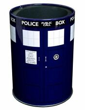 *NEW* Dr Doctor Who BLUE TARDIS Metal Can Cooler / Stubby Holder - Ikon BBC
