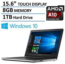 New Dell 15.6 inch HD TouchScreen AMD A10 QuadCore 8GB 1TB Backlit keyboard