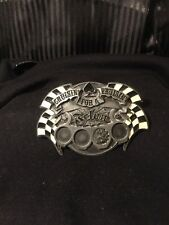 "Cast Bronze Belt Buckle ""Cruisin' for a Bruisin'"" Bottle Opener Lead Free"