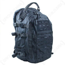 BLACK LASER CUT MOLLE MISSION PACK - LARGE SIZE - Rucksack Bag Army Military